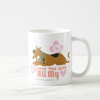 "Scooby Doo ""Love You With All My Heart"" Coffee Mug"