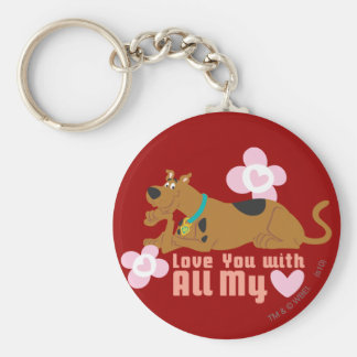 """Scooby Doo """"Love You With All My Heart"""" Key Ring"""