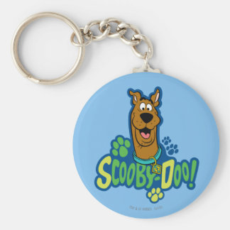 Scooby-Doo Paw Print Character Badge Key Ring