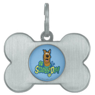Scooby-Doo Paw Print Character Badge Pet Name Tag