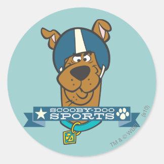 """Scooby Doo """"Scooby-Doo Sports"""" Round Sticker"""