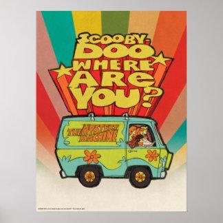 "Scooby-Doo | ""Where Are You?"" Retro Cartoon Van Poster"