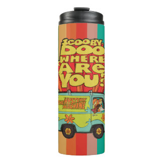 "Scooby-Doo | ""Where Are You?"" Retro Cartoon Van Thermal Tumbler"