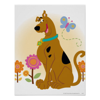 Scooby Mouth Opened Smile Poster