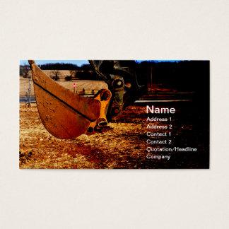 scoop for backhoe business card