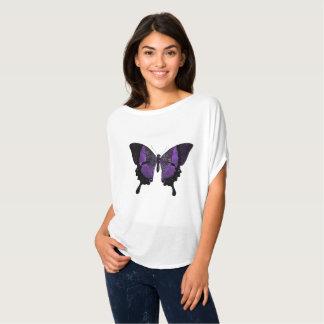 Scoop Neck Purple Butterfly Tshirt