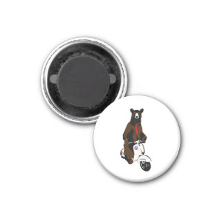Scooter Bear 3 Cm Round Magnet