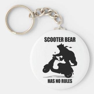 Scooter Bear Key Ring