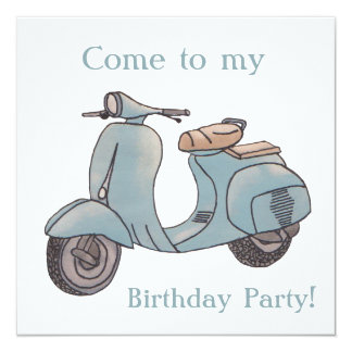 Scooter Birthday invitation