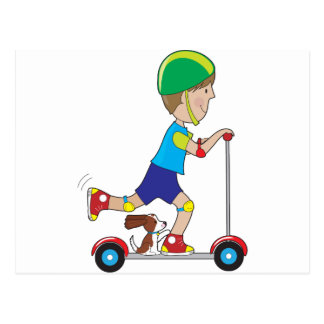 Scooter Boy Postcard