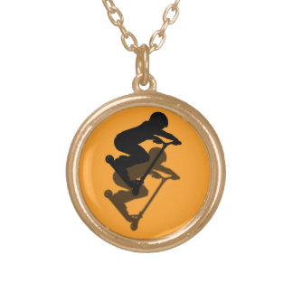 Scooter Boy - Stunt Scooter 5 Gold Plated Necklace