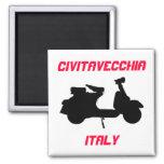 Scooter, Civitavecchia, Italy Fridge Magnets