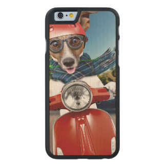 Scooter dog ,jack russell carved® maple iPhone 6 case