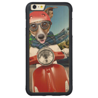Scooter dog ,jack russell carved maple iPhone 6 plus bumper case