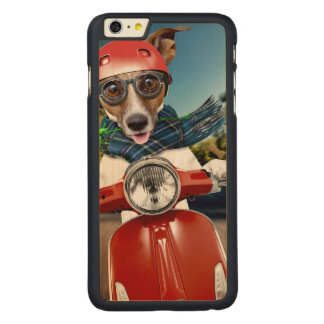 Scooter dog ,jack russell carved® maple iPhone 6 plus case