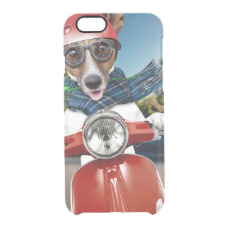 Scooter dog ,jack russell clear iPhone 6/6S case
