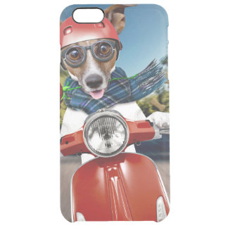 Scooter dog ,jack russell clear iPhone 6 plus case