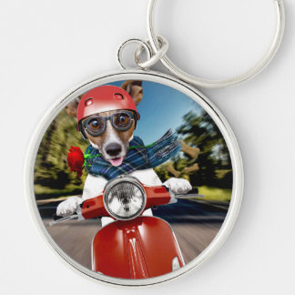 Scooter dog ,jack russell key ring