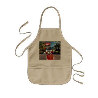 Scooter dog ,jack russell kids apron