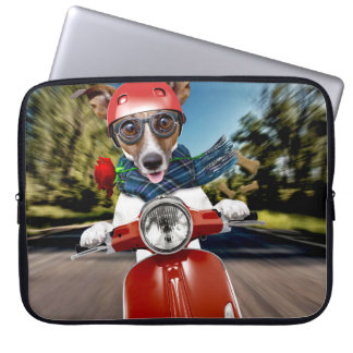 Scooter dog ,jack russell laptop sleeve