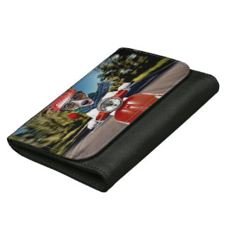 Scooter dog ,jack russell leather wallets