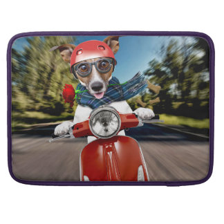 Scooter dog ,jack russell sleeve for MacBook pro