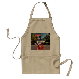 Scooter dog ,jack russell standard apron