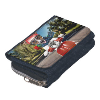 Scooter dog ,jack russell wallet
