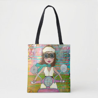 Scooter Girly Tote Bag