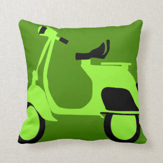Scooter Green Cushion