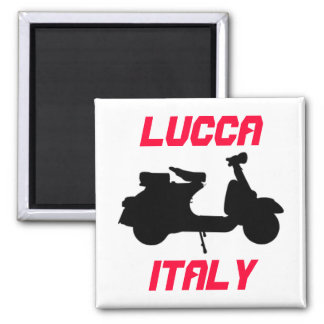 Scooter, Lucca, Italy Square Magnet