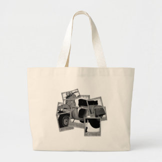 Scooter Montage Large Tote Bag