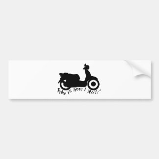 Scooter or E-Bike - This is how I Roll Bumper Stickers