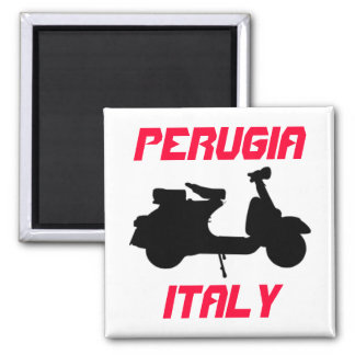Scooter, Perugia, Italy Square Magnet
