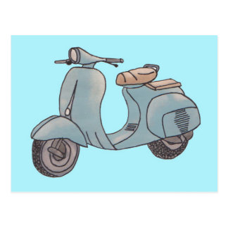 Scooter postcard