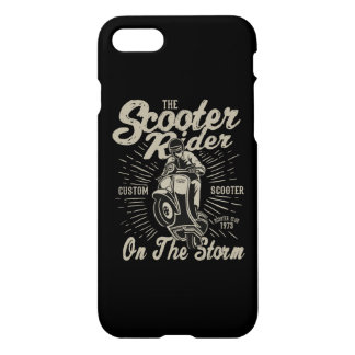 Scooter Rider Glossy Phone Case