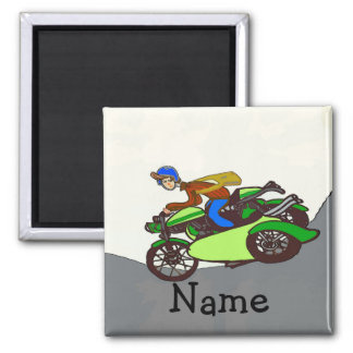 Scooter, sidecar, add name magnet