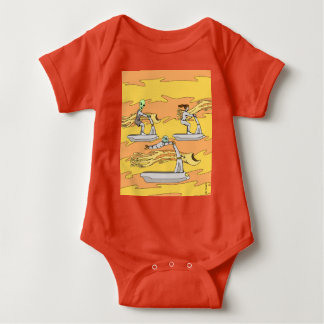 Scootering with the Wind Riders Baby Bodysuit