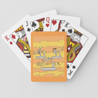 Scootering with the Wind Riders Playing Cards