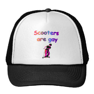 Scooters are gay mesh hat