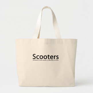 scooters large tote bag