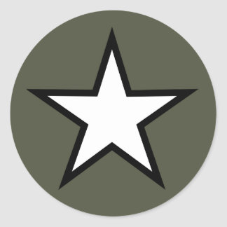 Scope Cap Sticker, Star Classic Round Sticker