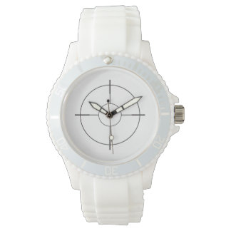 Scope Sight Cross-Hairs Sporty Watch