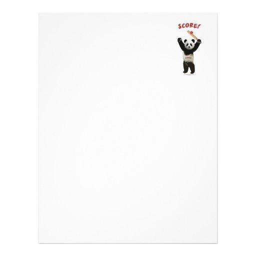 Score Cricket Panda Flyer Design