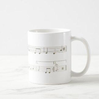 Score happy birthday for Oboe Coffee Mug