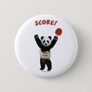 Score Panda Ping Pong 6 Cm Round Badge