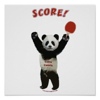 Score Panda Ping Pong Print