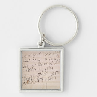 Score sheet of 'Moonlight Sonata' Key Ring