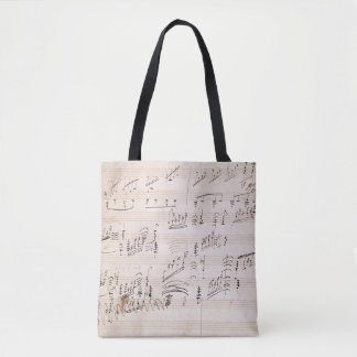 Score sheet of 'Moonlight Sonata' Tote Bag