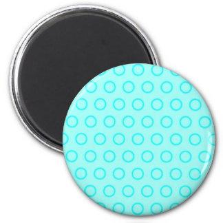scores circles dots polka dab dabbed 6 cm round magnet